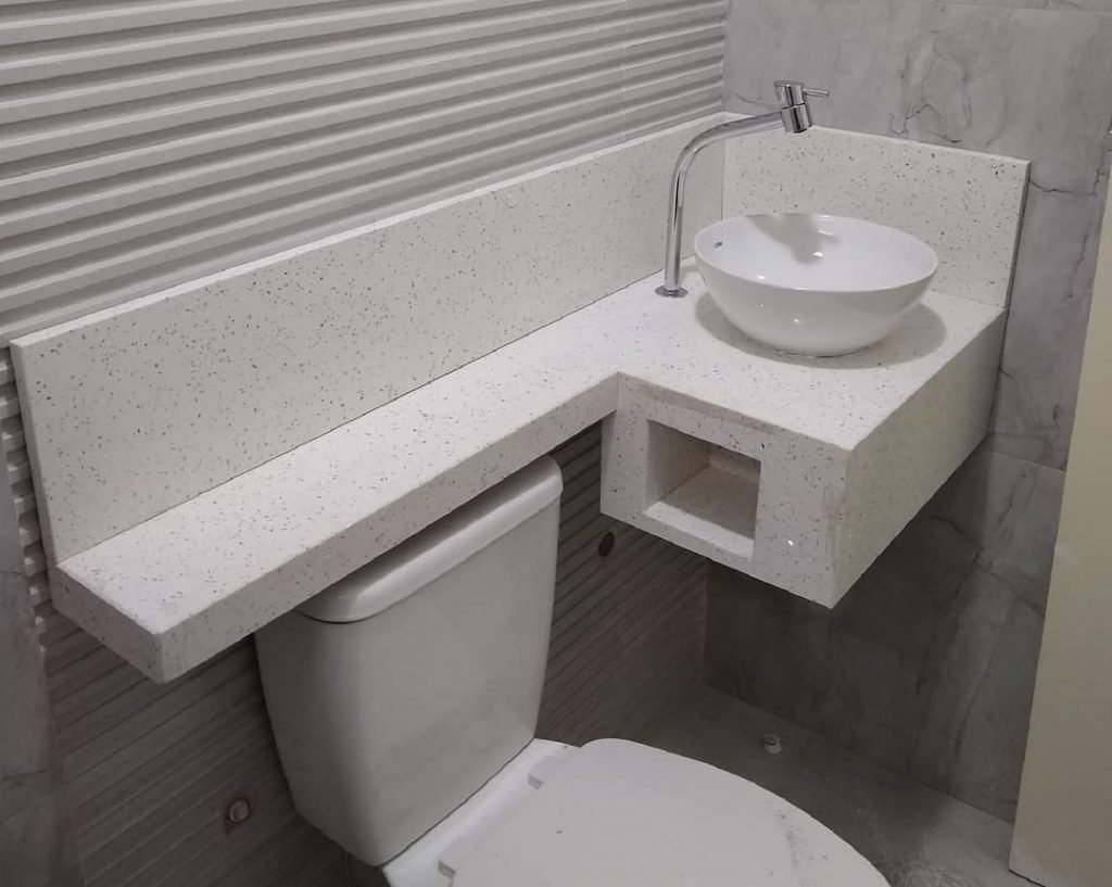 cuba e pia para banheiro pequeno