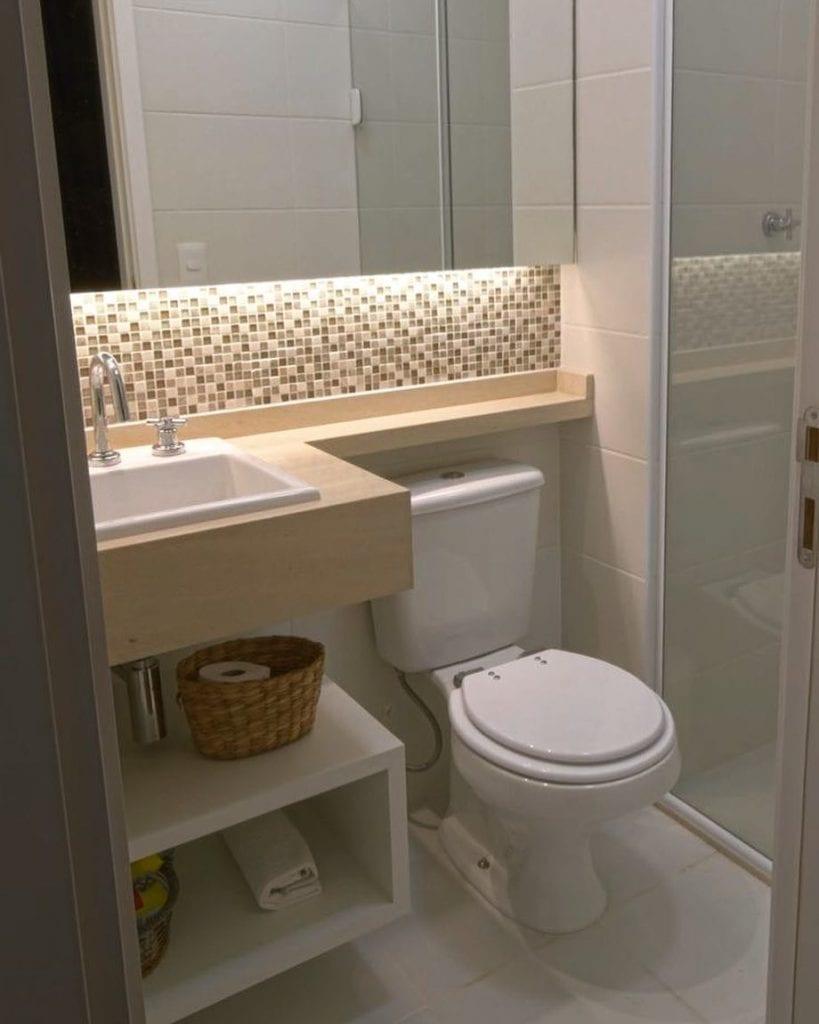 Banheiros Pequenos: +65 ideias e inspirações - Dicas Decor