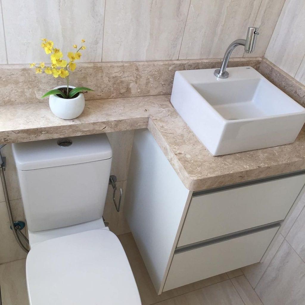 cuba quadrado para banheiro pequeno