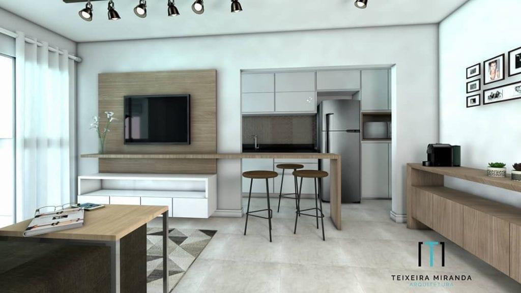 cozinha-americana-pequena-apartamento-simples