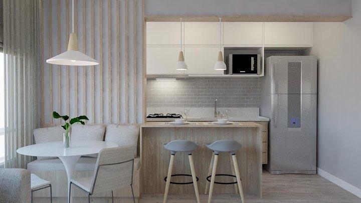 cozinha-americana-pequena-apartamento-moderna