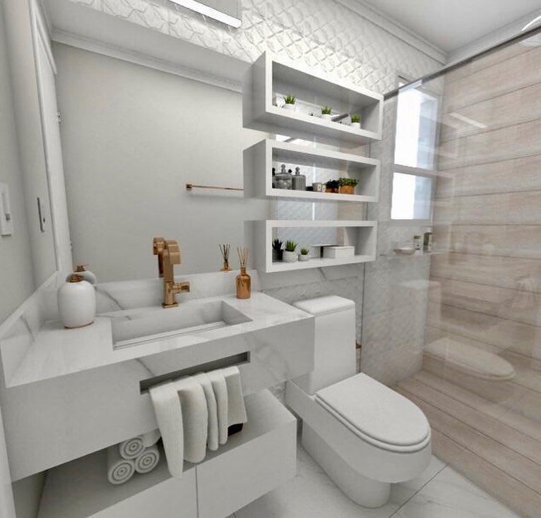 Nichos Para Banheiro 50 Modelos Para Decorar E Organizar