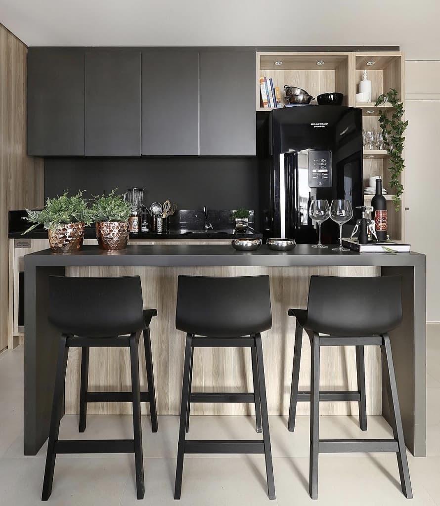 cozinha-americana-preta-pequena-moderna