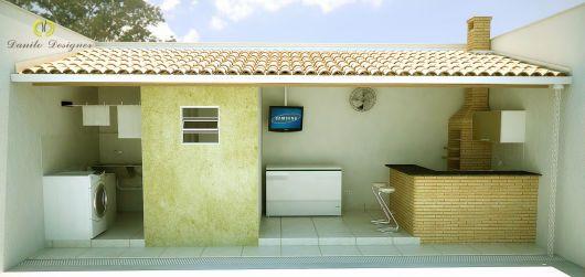 area externa com lavanderia e cozinha