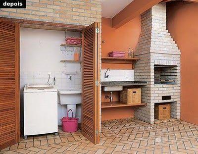 cozinha e lavanderia externa