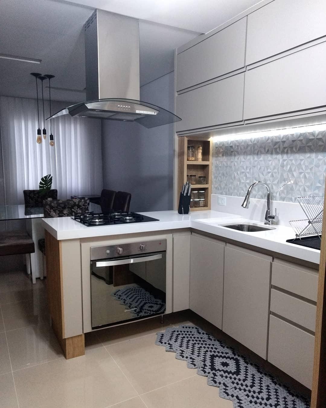 35 Ideias Para Ilhas Na Sua Cozinha: Cozinha Em L: 55 Inspirações Para A Sua Casa!