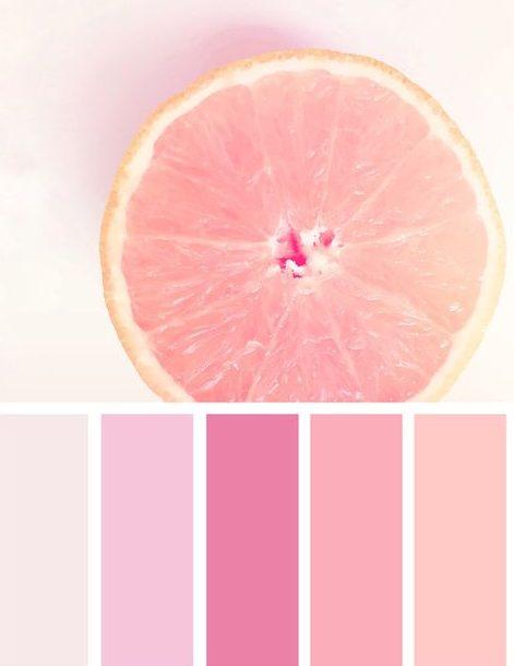 tonalidades da cor rosa