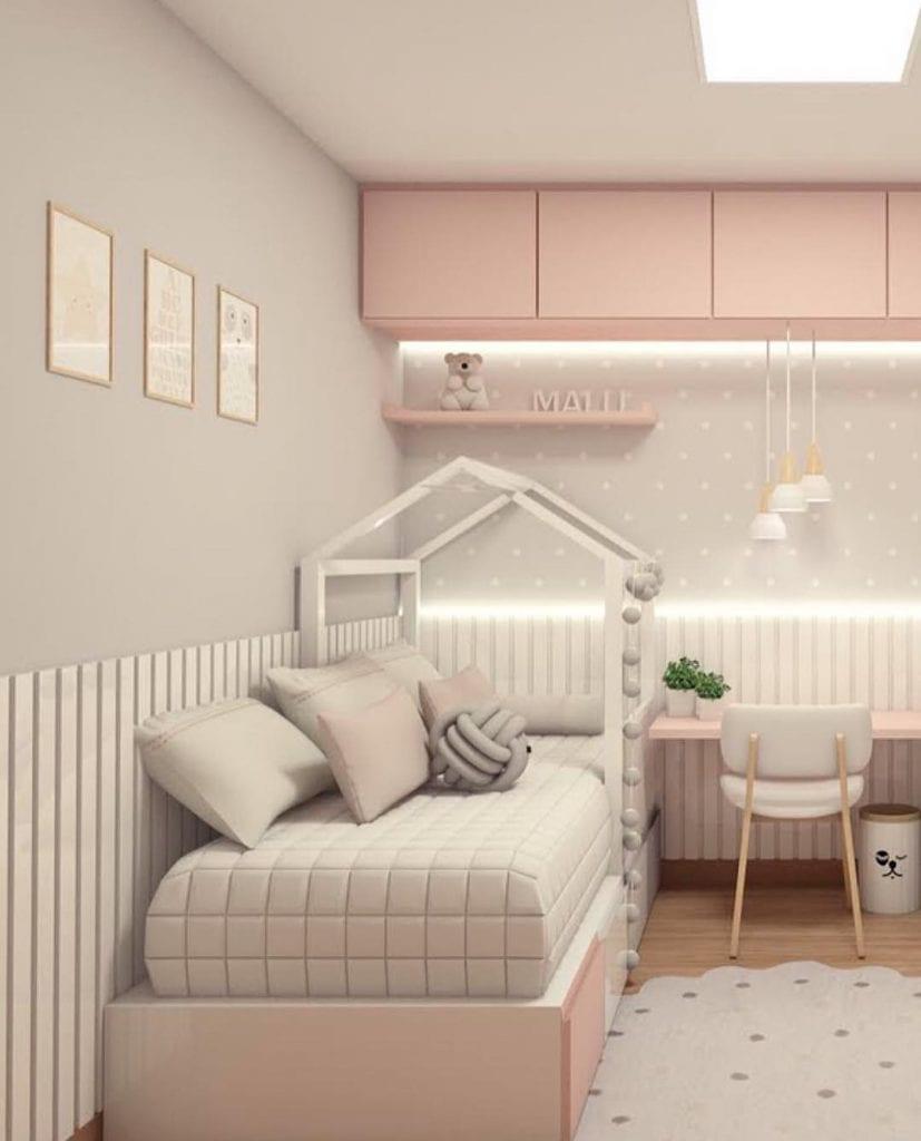 quarto rosa de menina moderno