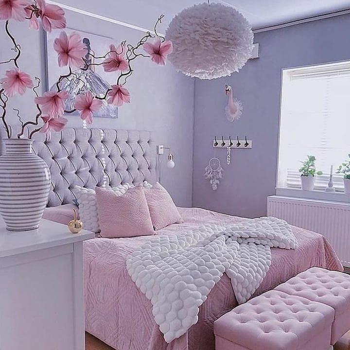 quarto rosa de adulto
