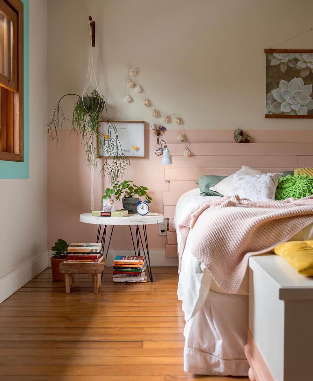 quarto rosa com verde