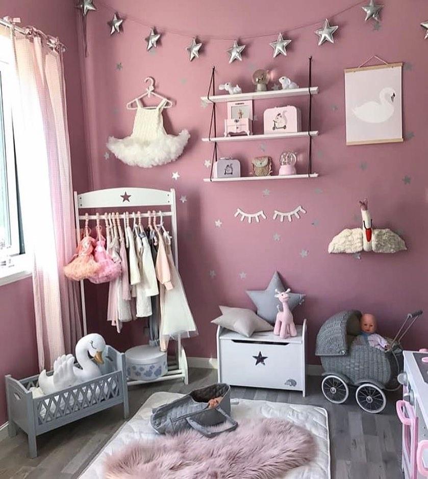 quarto rosa de criança