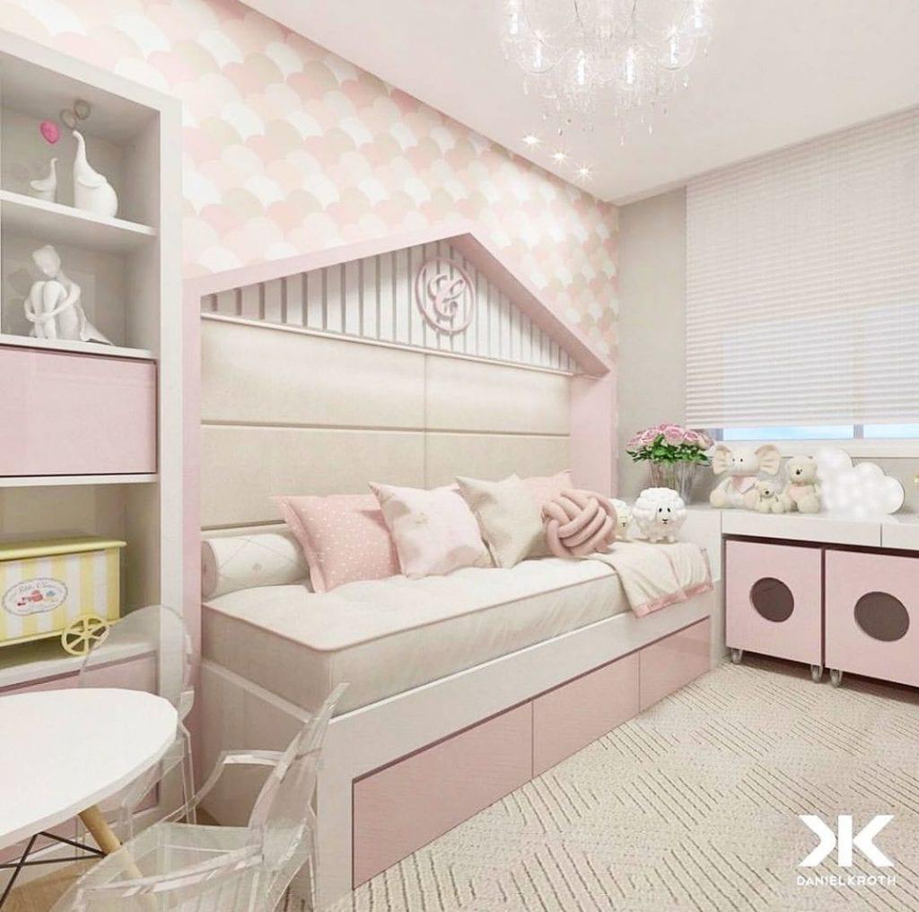 quarto rosa claro infantil