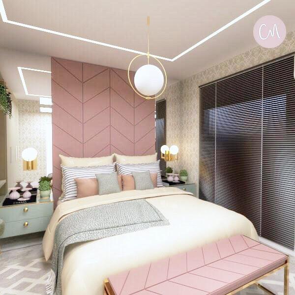 quarto rosa de casal