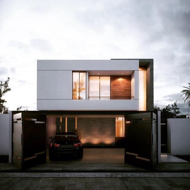 modelos de garagem frente casa
