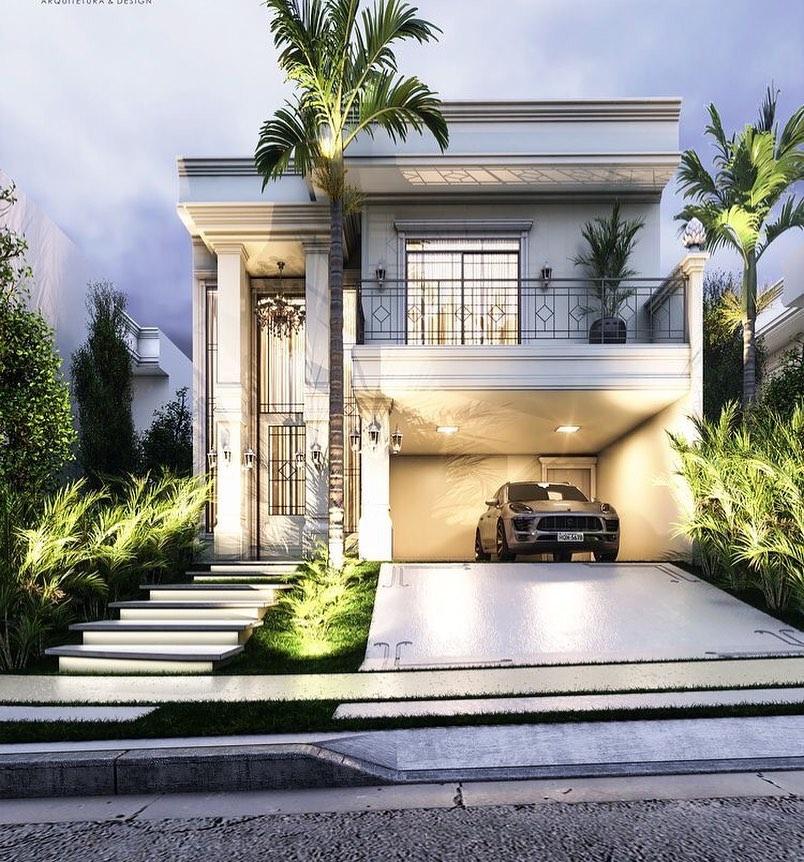 Casas com varanda 60 projetos e fotos incr veis dicas for Foto casa classica