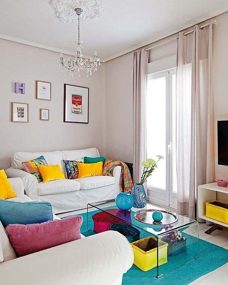 17+ Sofá Branco Com Almofadas Vermelhas