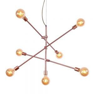 Pendente Lustre Sputnik Moderno Retrô Rose Gold