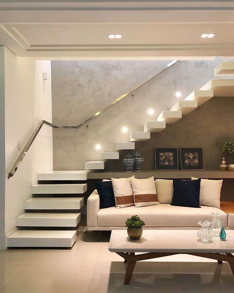 Sala Com Escada 60 Ideias E Solucoes Incriveis Dicas Decor