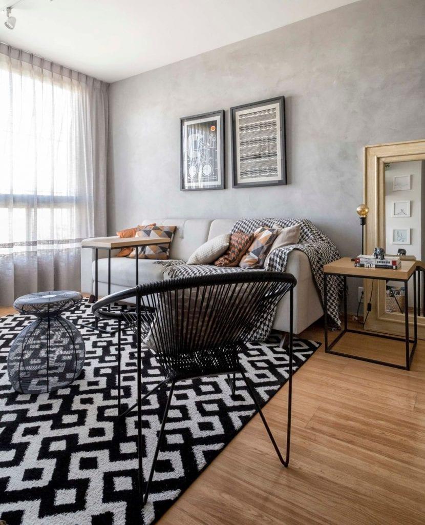 sofa pequeno apartamento decorado luxuoso