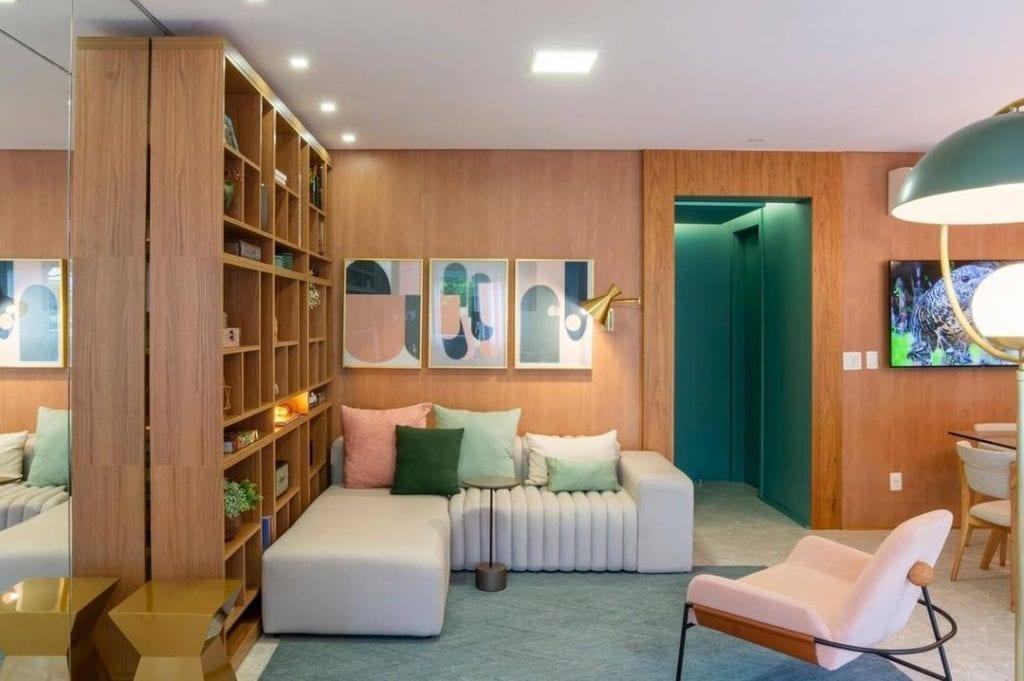 sofa pequeno modulado apto decorado