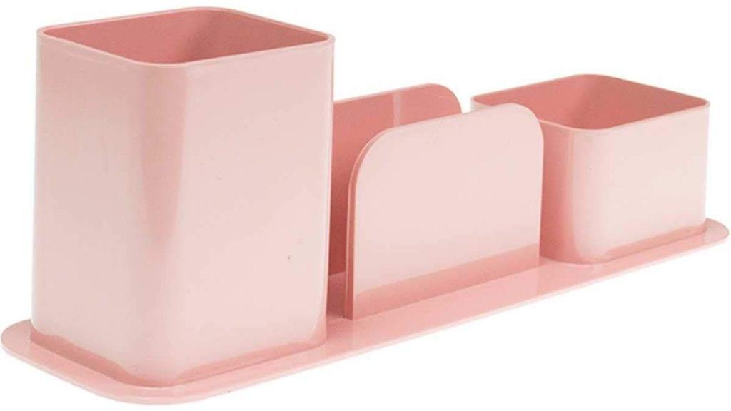 porta-lapis-rosa-escritorio