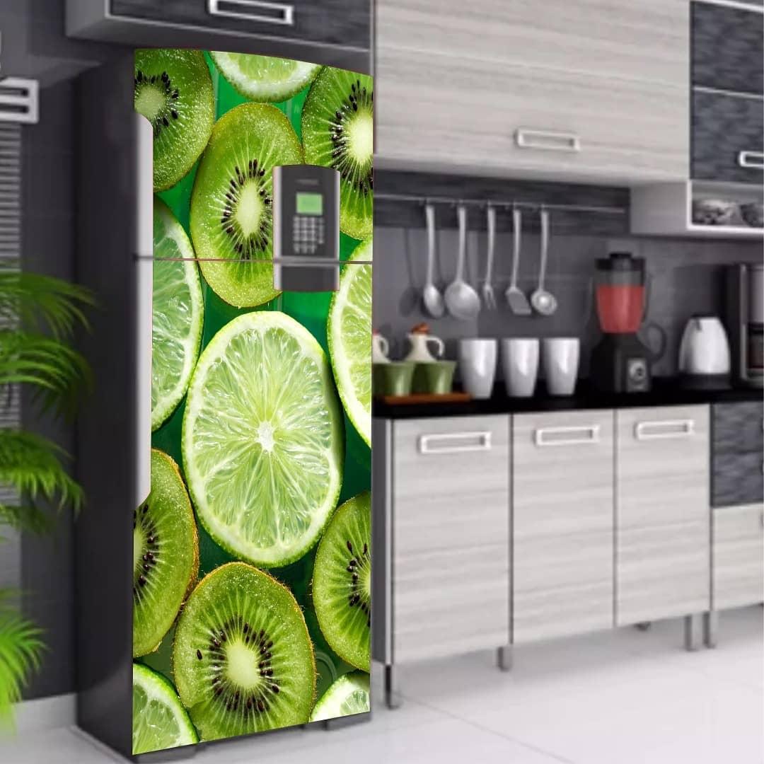envelopamento de geladeira tema frutas