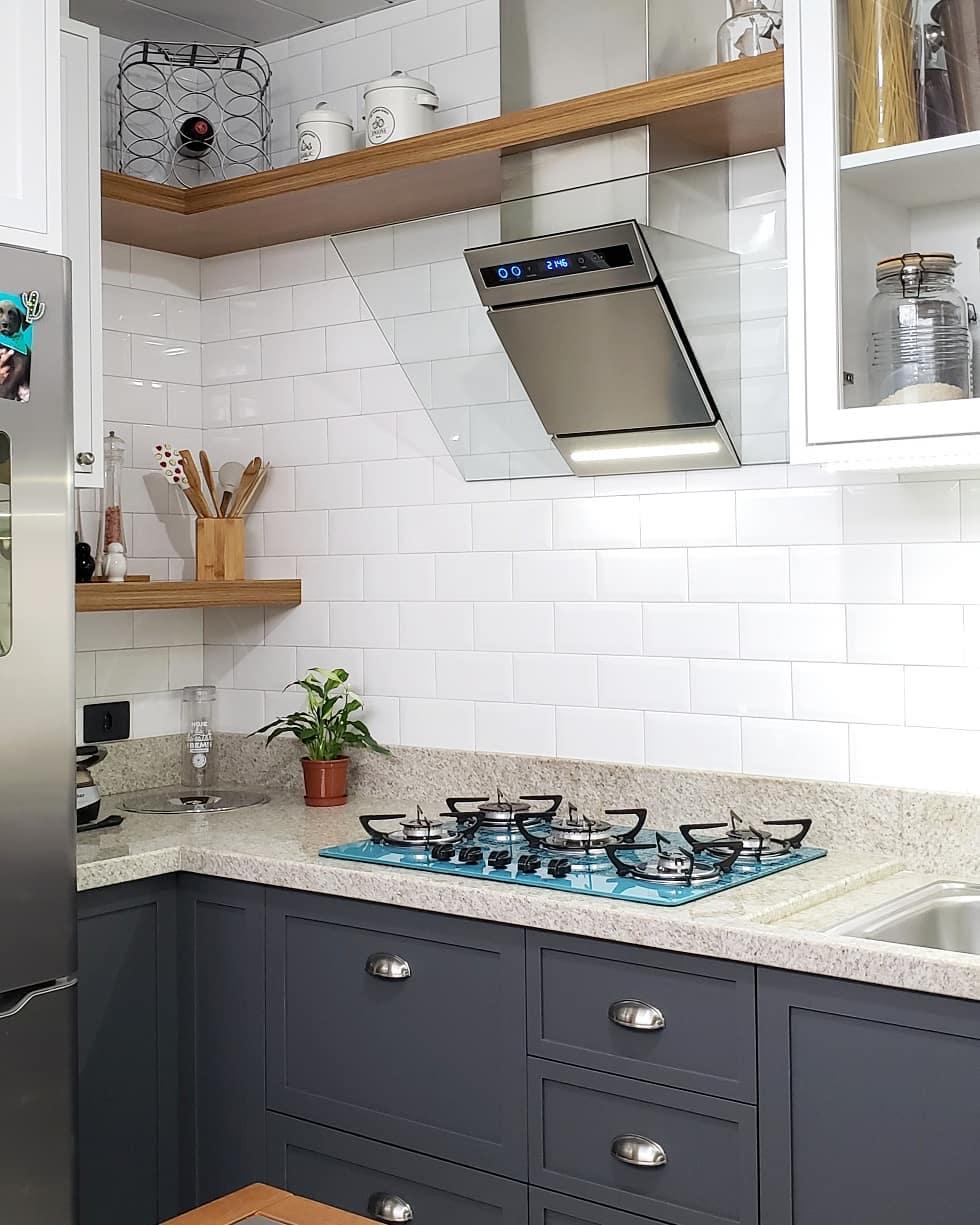 granito branco cozinha pequena