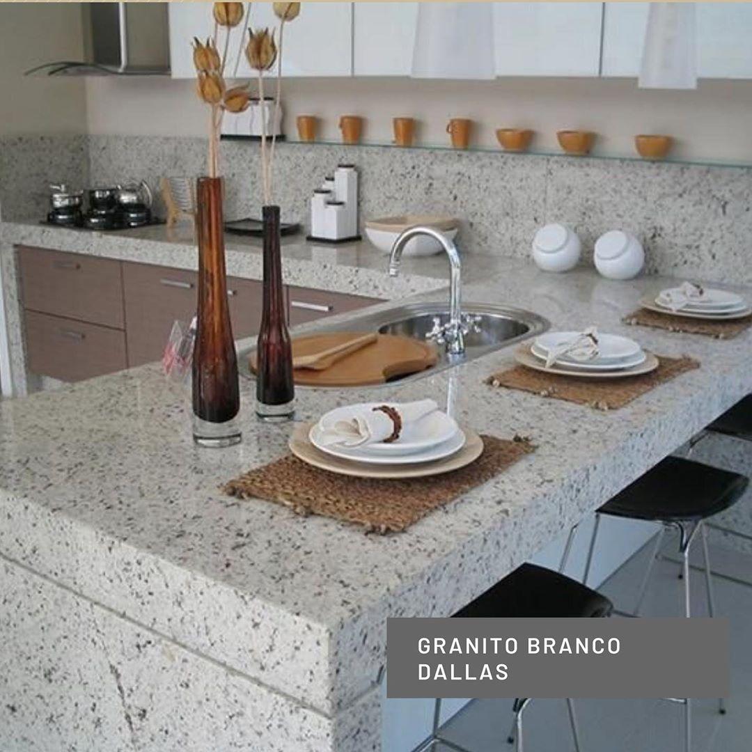 granito branco dallas na cozinha