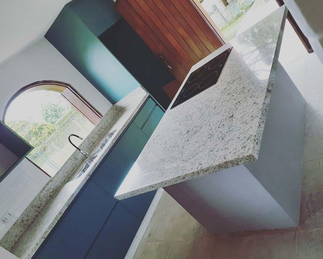 granito branco dallas cozinha