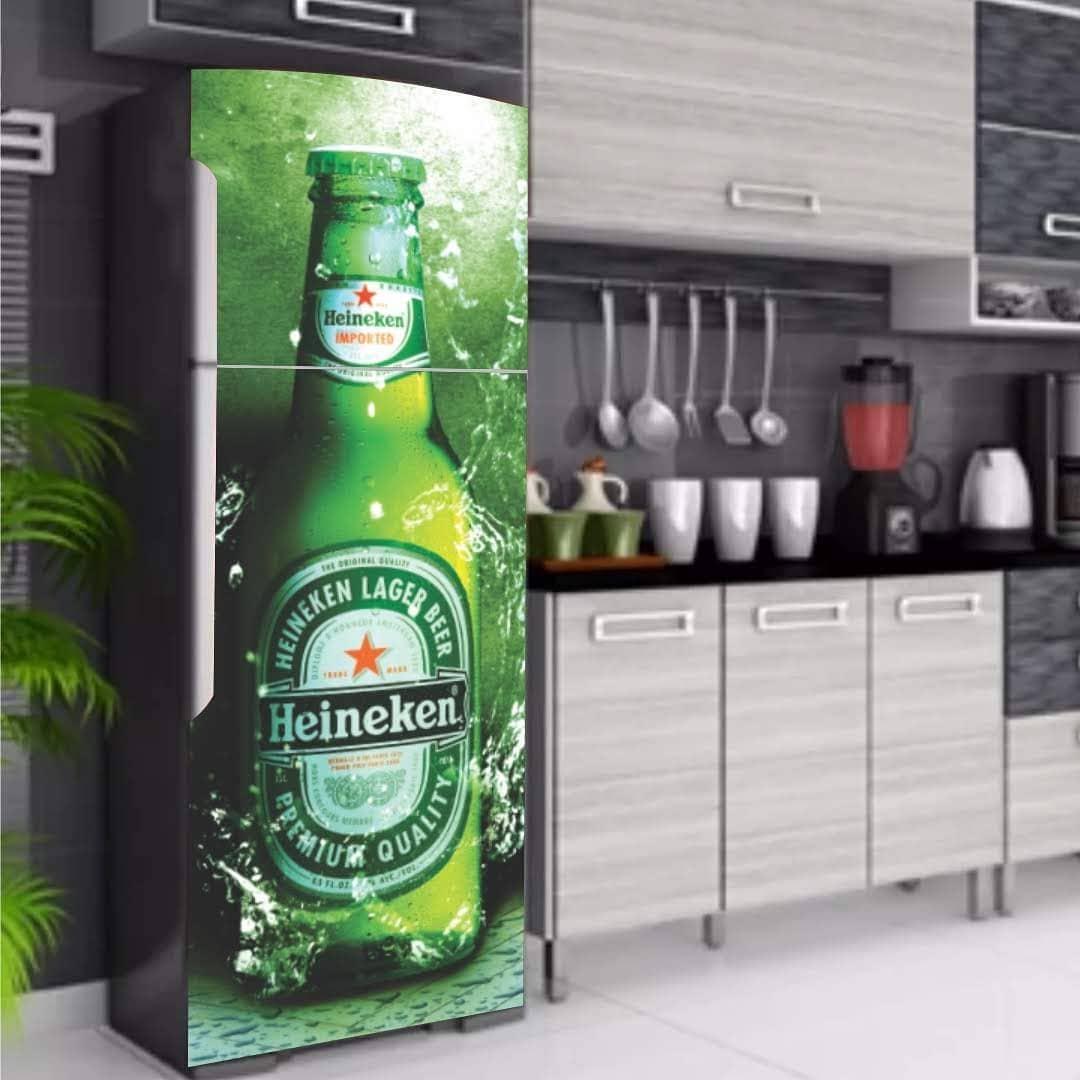 envelopamento de geladeira tema cerveja