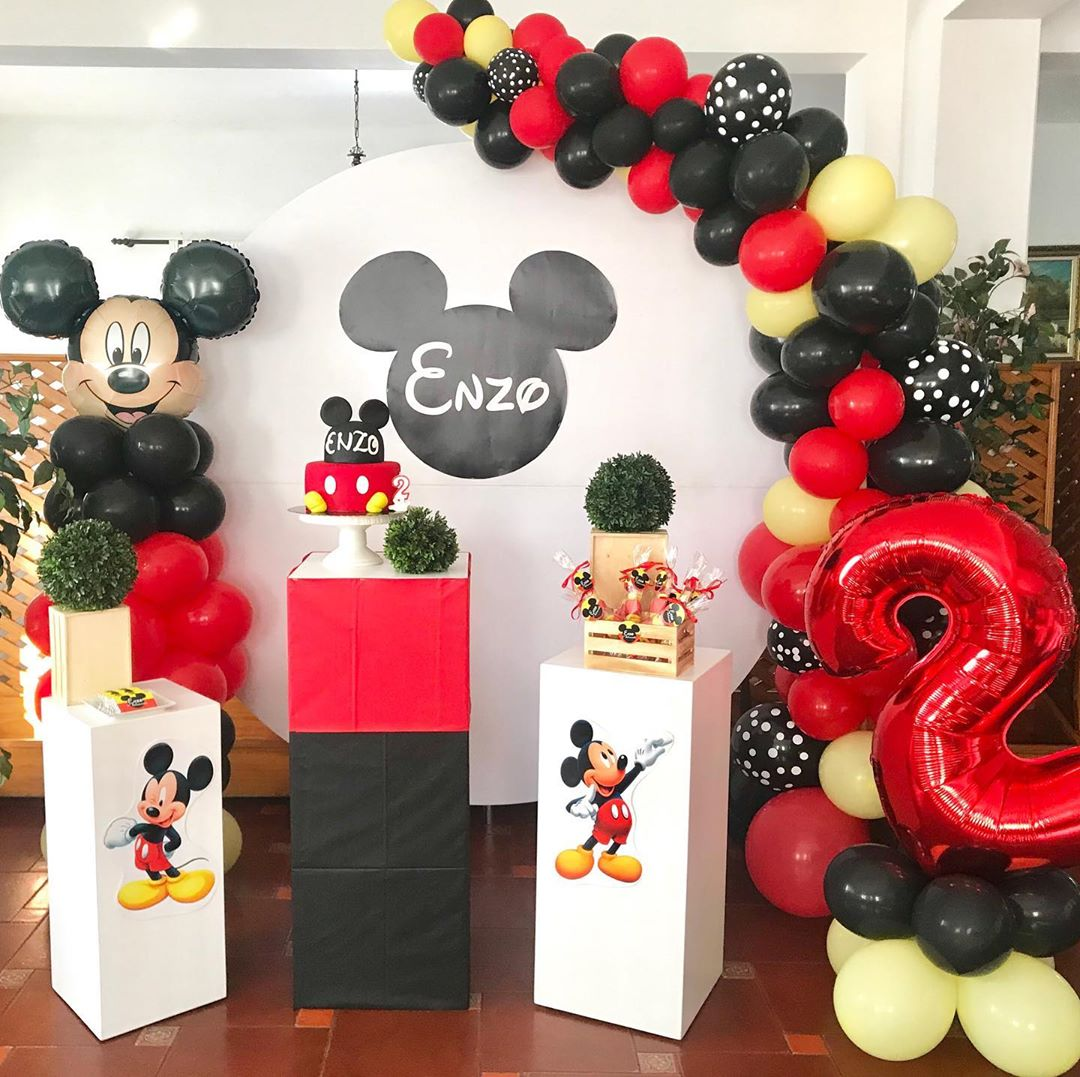mickey-decoracao-baloes