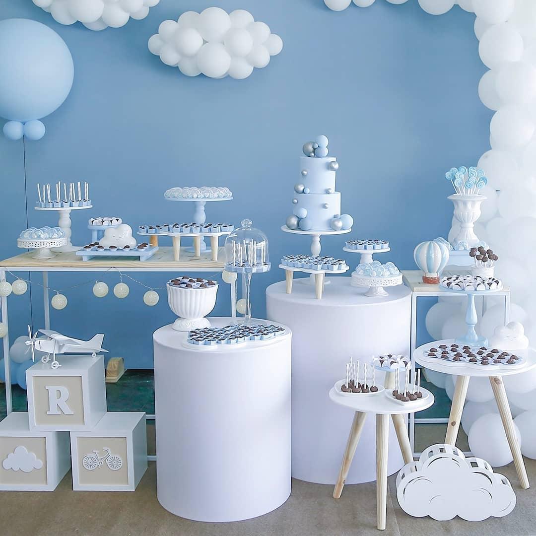 decoracao-cha-de-bebe-menino-nuvens