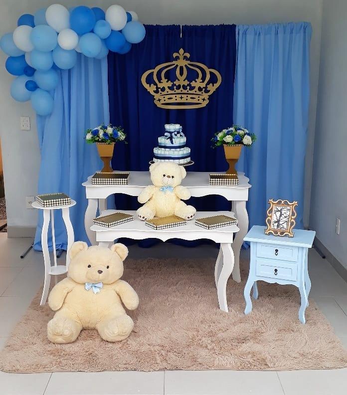 decoracao-cha-de-bebe-menino-urso-principe