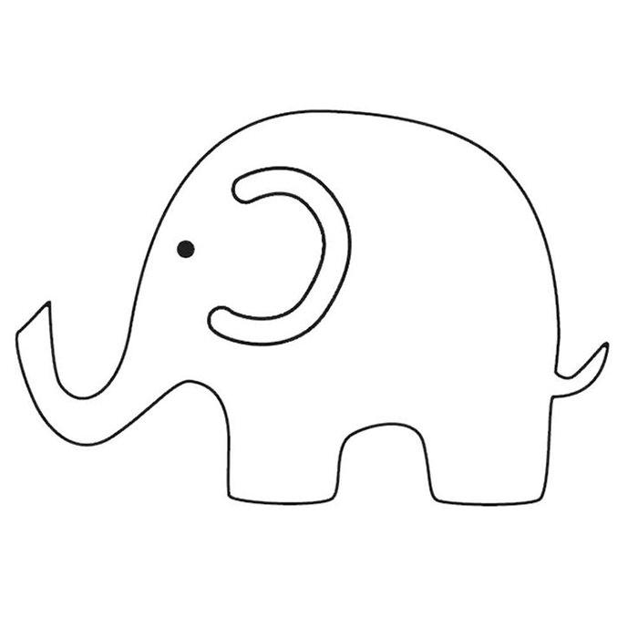 molde elefante-papel