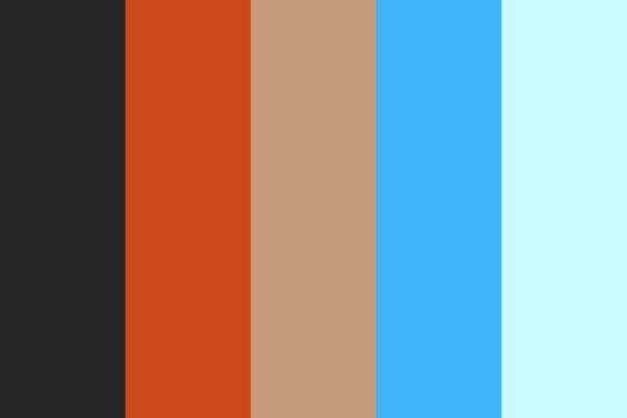paleta de cores festa moana