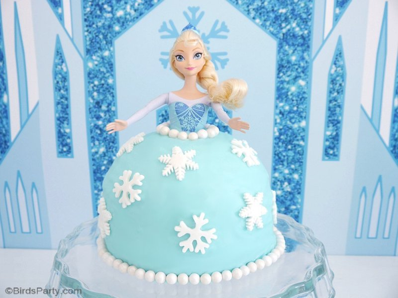 frozen-festa-bolo-boneca