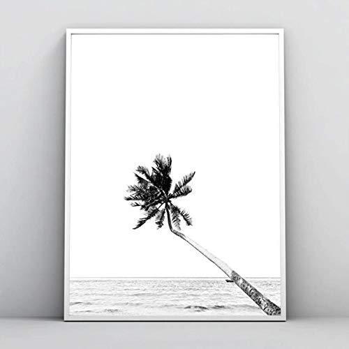 quadro tema praia preto e branco