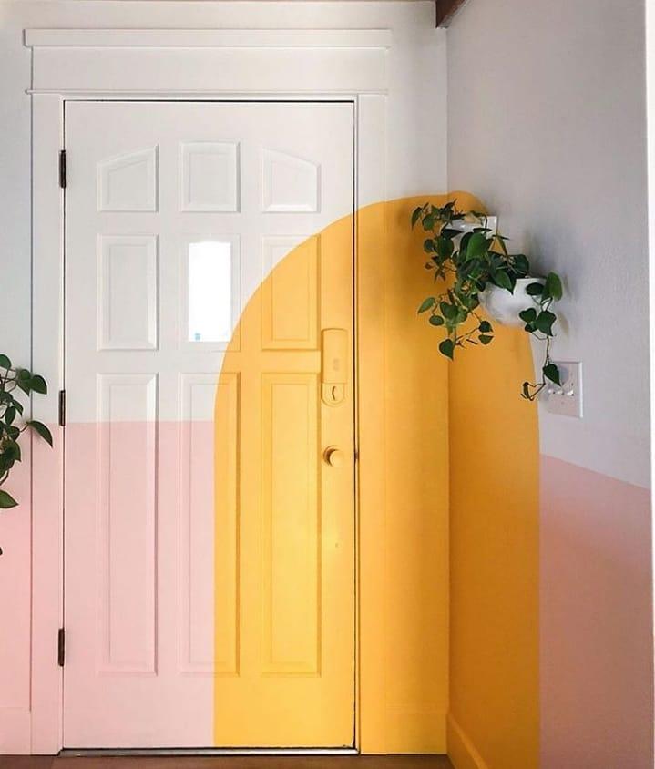 porta colorida-entrada-casa