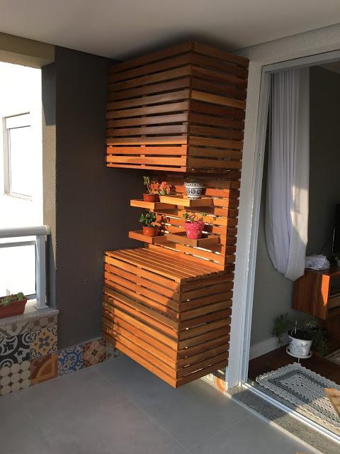 esconder ar condicionado na varanda