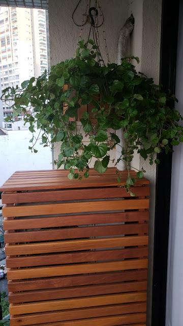 caixa de madeira para esconder ar condicionado