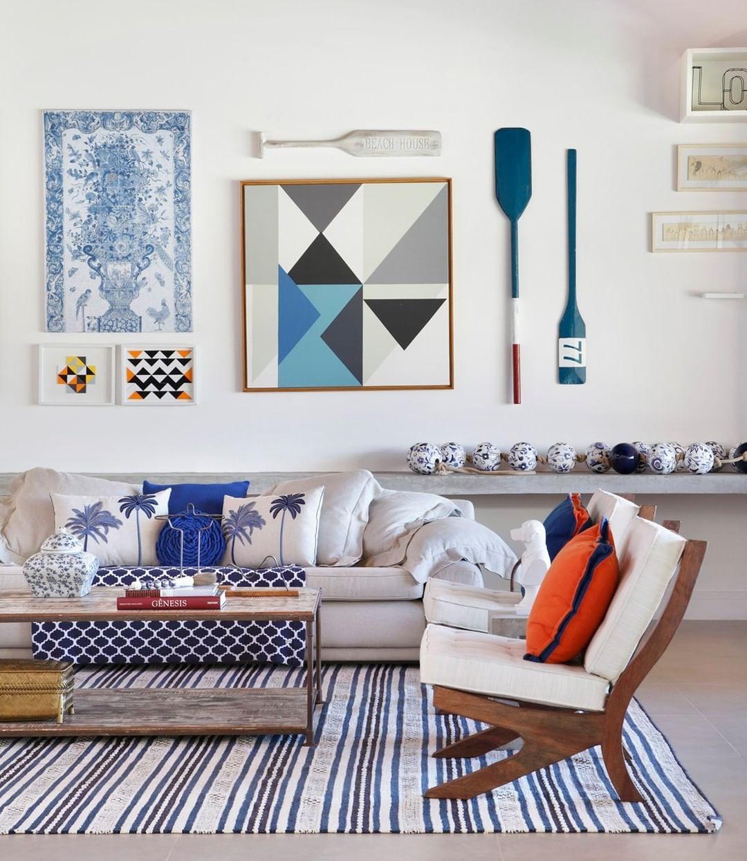 decoração sala casa de praia objetos decorativos