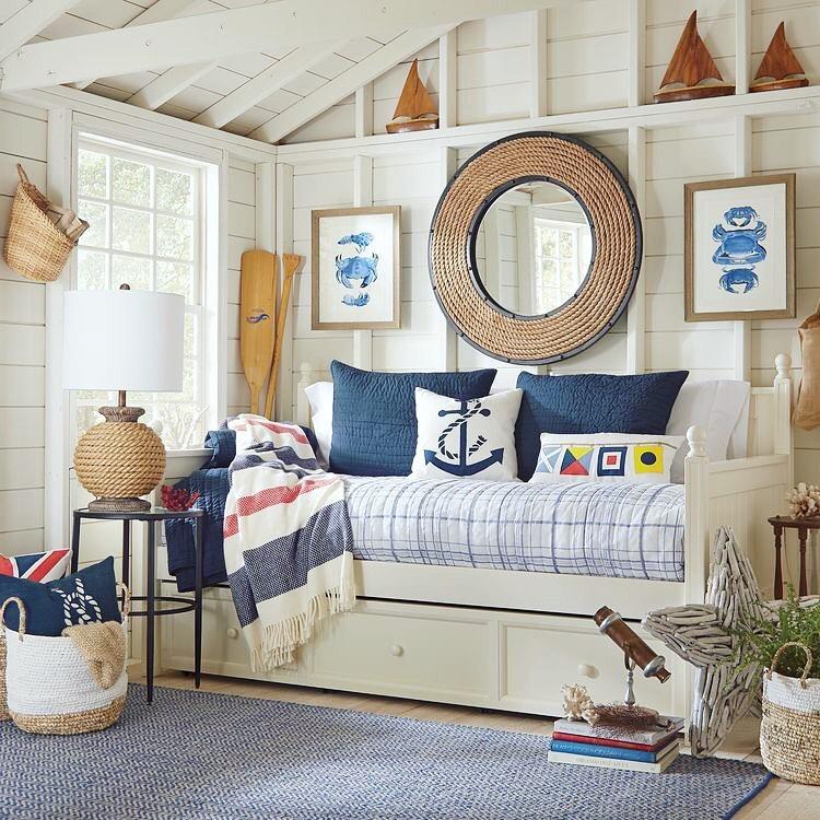 decoração sala de casa de praia