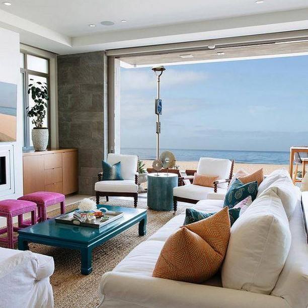 decoração sala casa de praia