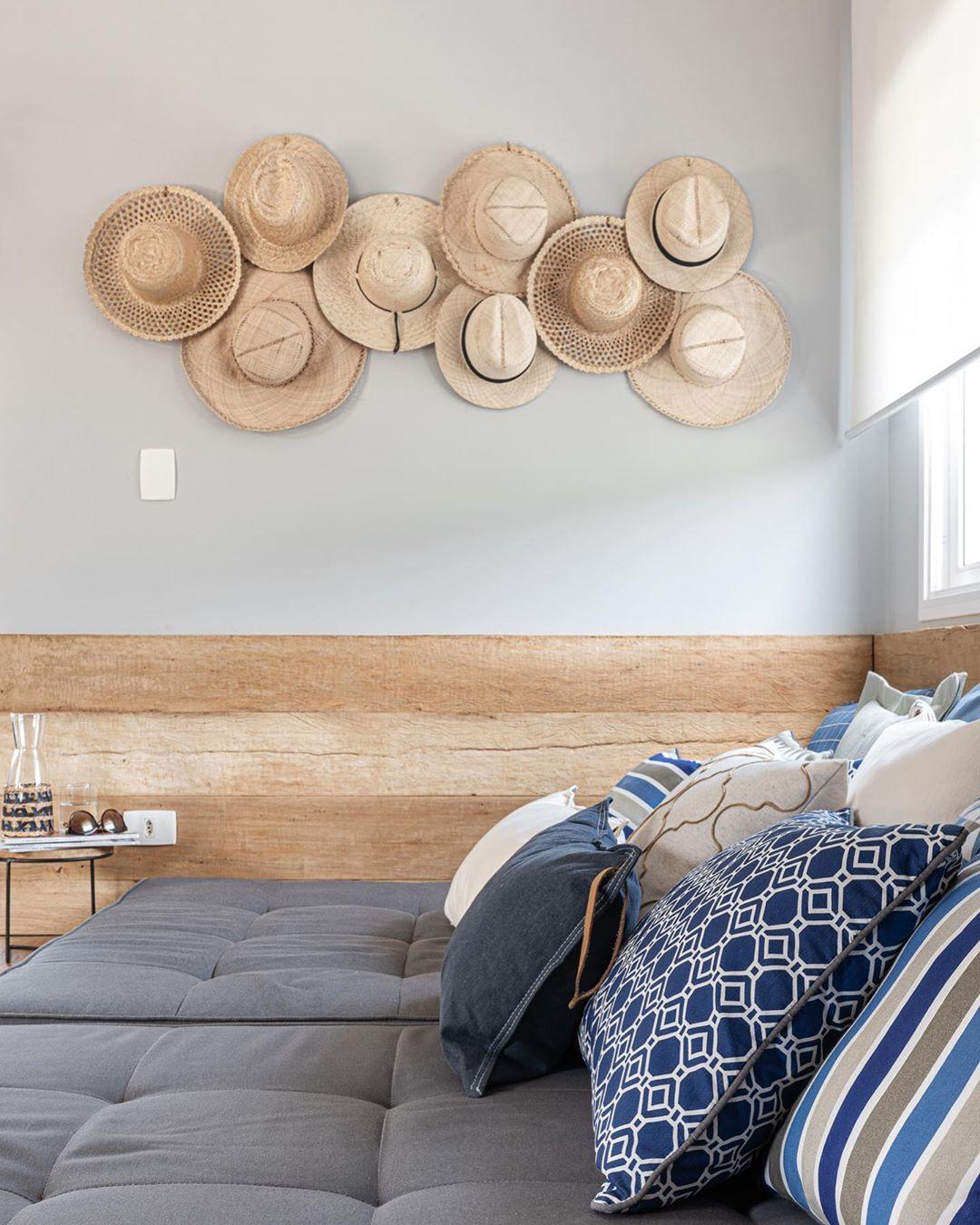 decoração quarto casa de praia rustico