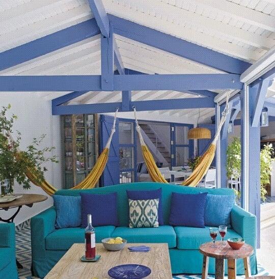 decoração varanda casa de praia