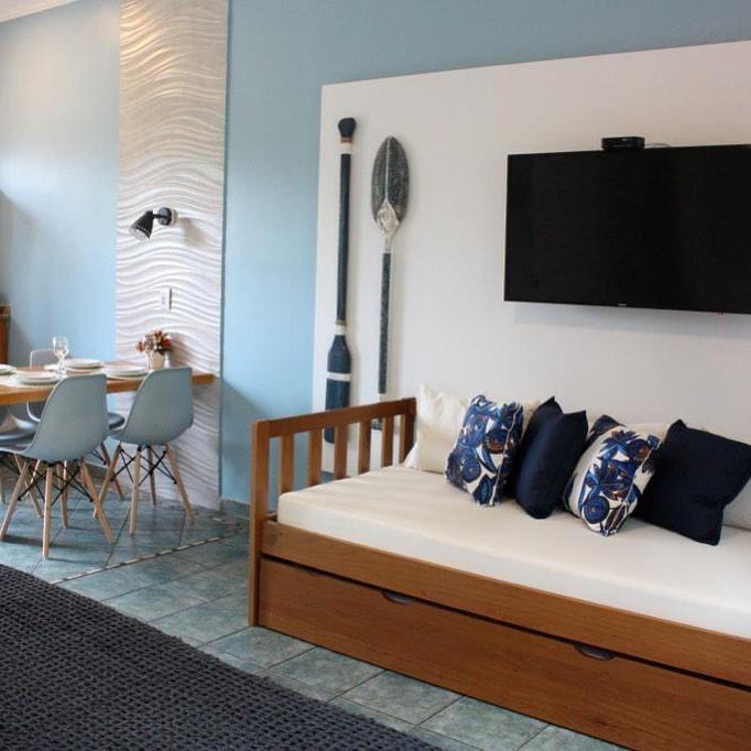 decoração apartamento de praia moderno