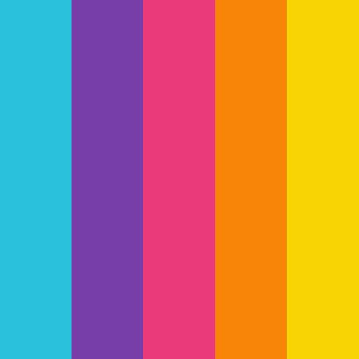 paleta de cores festa tema carnaval