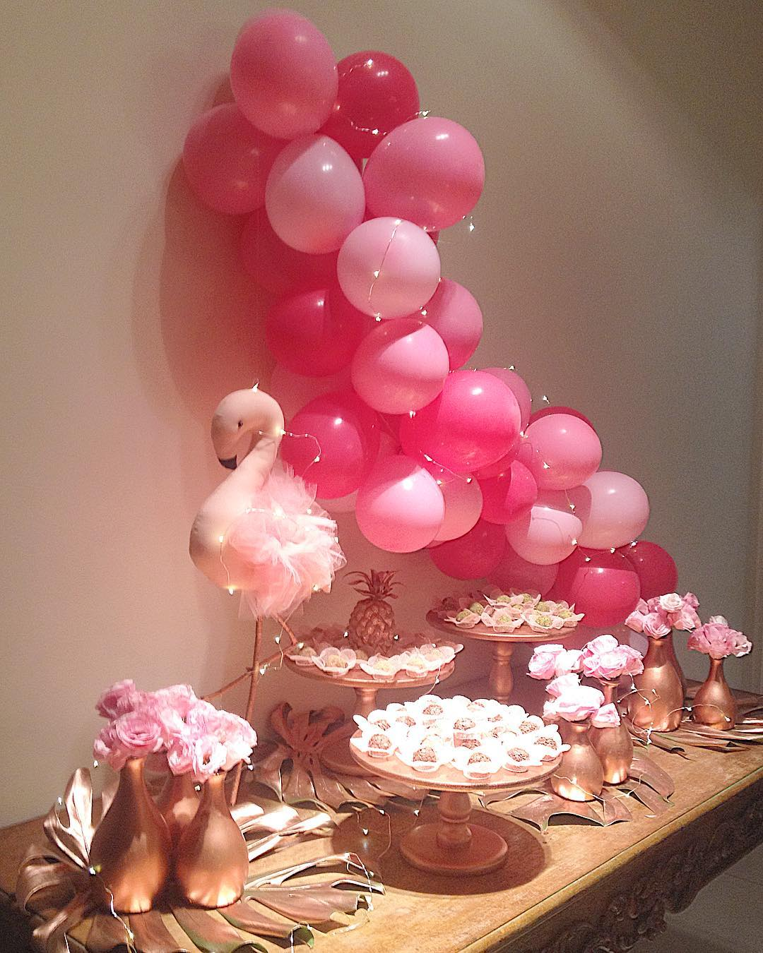 festa flamingo minimalista adulto pequena