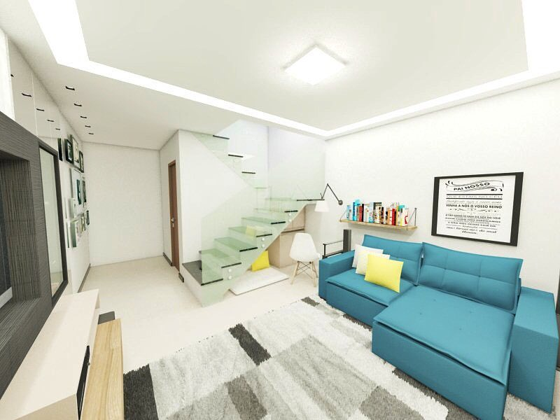 sofa azul turquesa com chaise