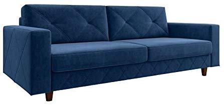 sofa de veludo azul
